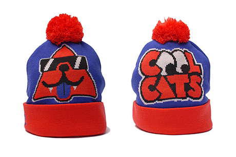KANGOL x COOL CATS BLUE BEANIE
