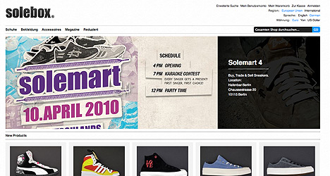 Solebox Relaunch 2010