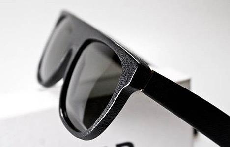 Cool things April '10 - Super Flat Top Black Leather Sunglasses