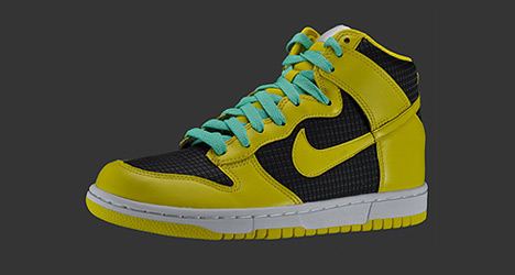 Wmns Dunk High Black / Speed-Yellow / Cool Mint