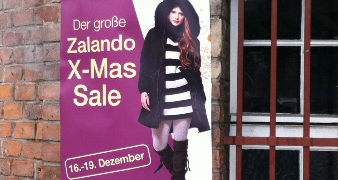Zalando X-Mas Sale vom 16.-19.Dez in Berlin!