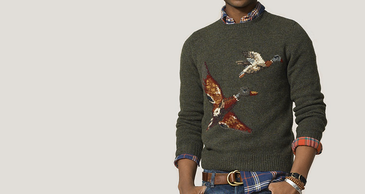 Rugby by Ralph Lauren Wool Mallard Patch Crewneck
