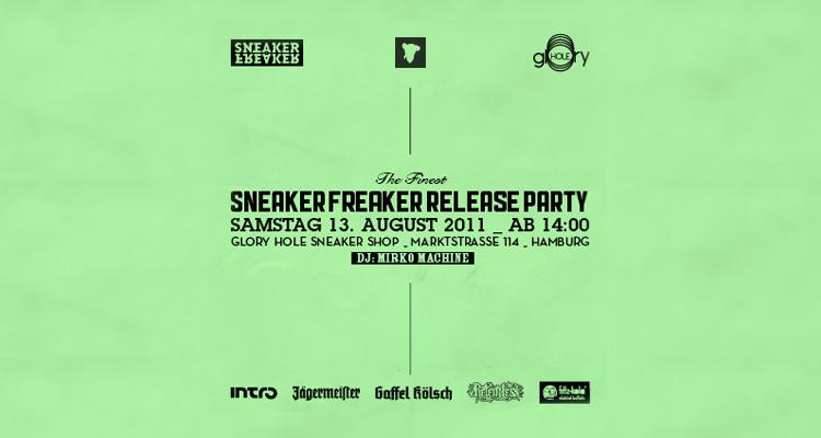 SNEAKER FREAKER Release-Party bei glOry hOle