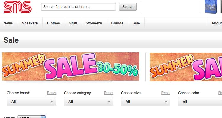 SNS Sale plus 40% off auf einen 2 Sale-Artikel