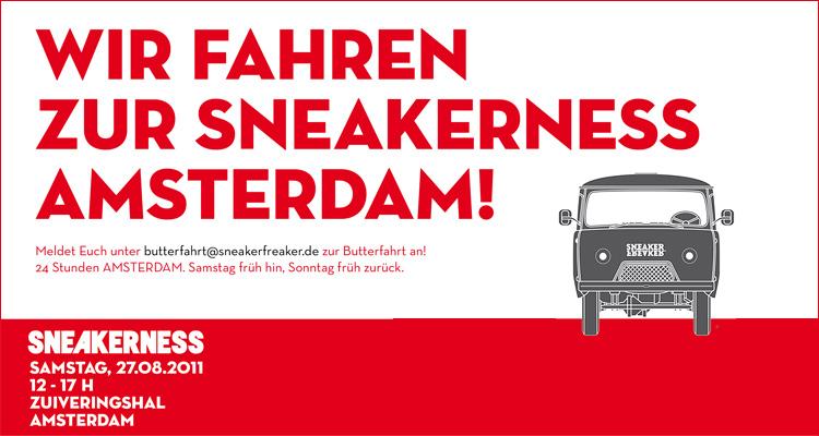 Butterfahrt zur Sneakerness Amsterdam