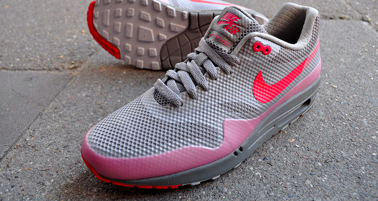 Nike AIR Max 1 Hyperfuse Premium Grey - Solar Red bei glOry hOle
