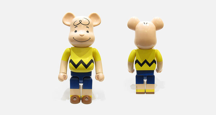 Be@rbrick 1000% Charlie Brown bei cream