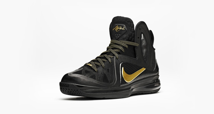 Nike LeBron 9 P.S. Elite Black / Mettallic Gold