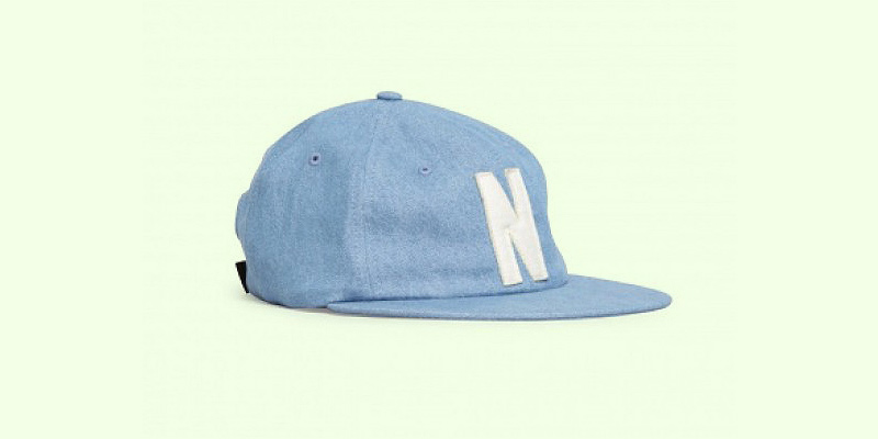 Norse Projects Denim 6 Panel Cap