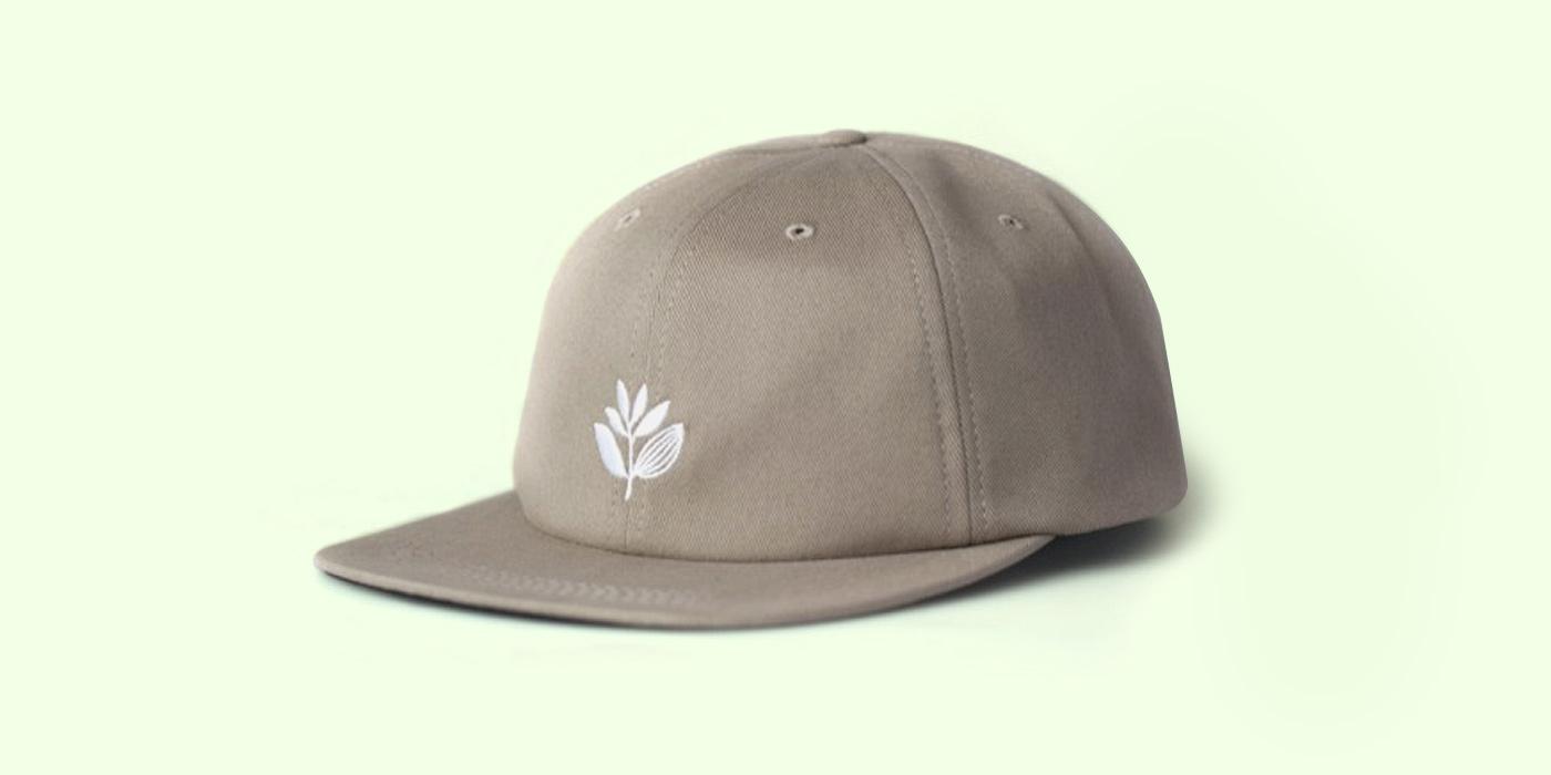 Magenta Skateboard Plant 6P Hat Khaki
