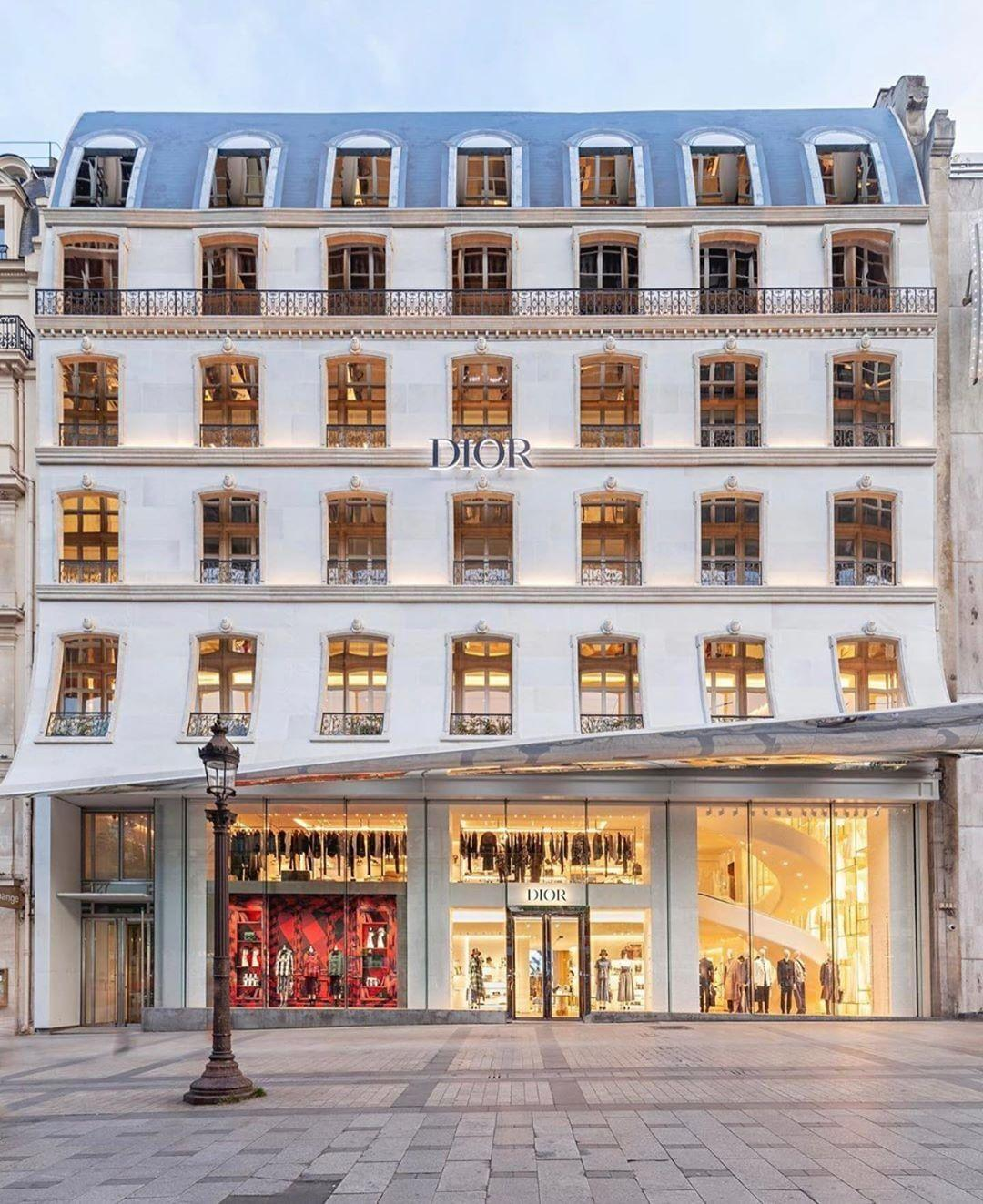 The new Dior store on the Champs Élysées