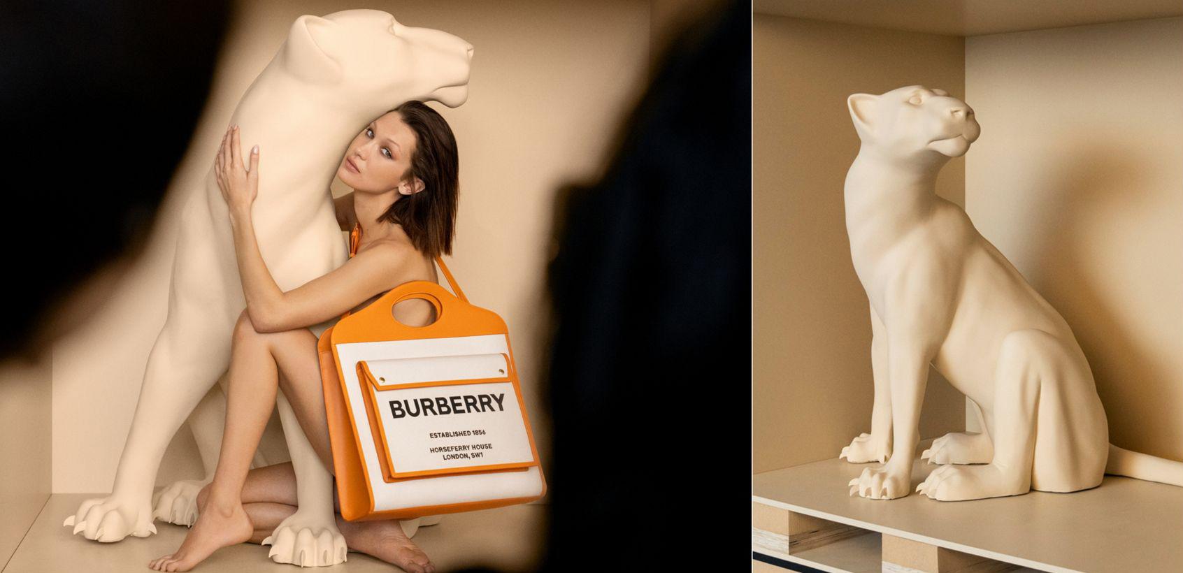 Burberry Pocket Bag Kampagne Bella Hadid