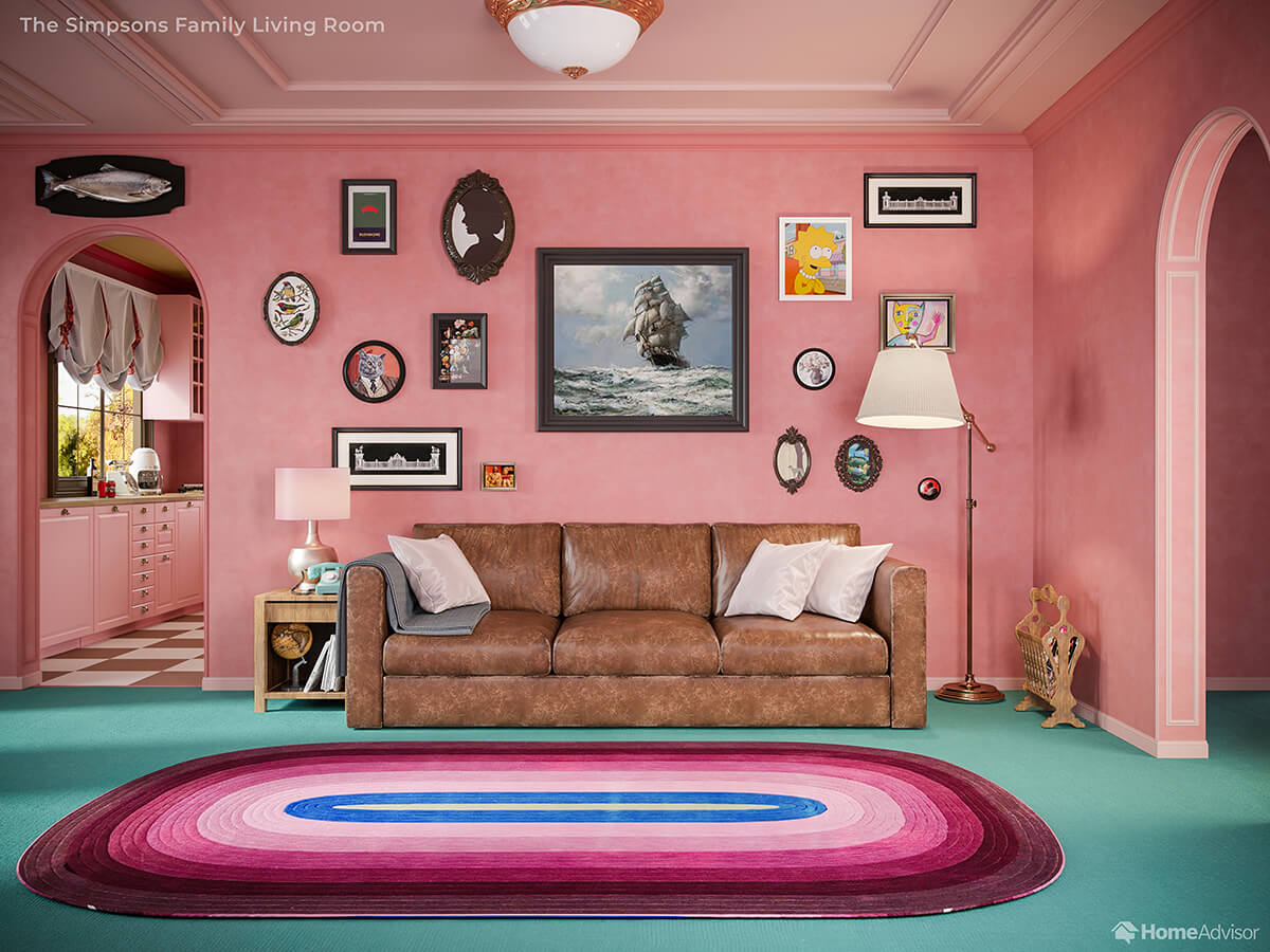 If Wes Anderson Designed the Interiors of The Simpsons