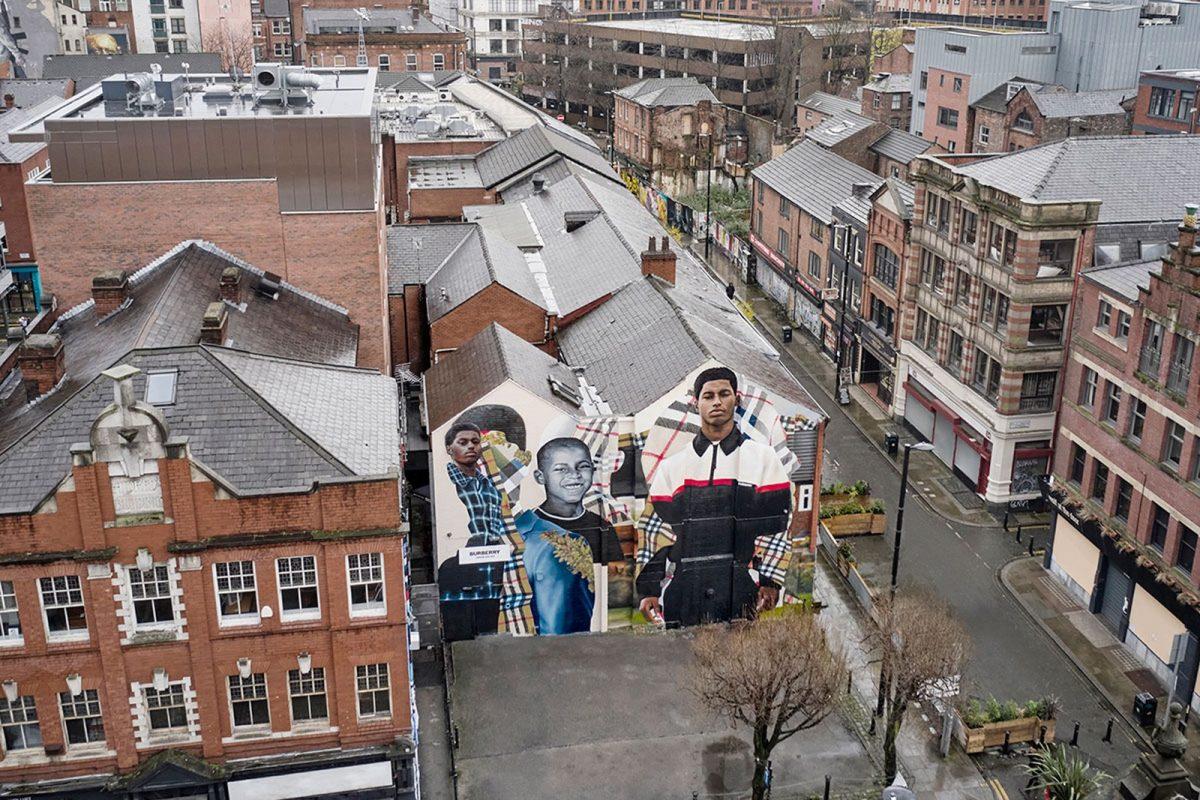 Burberry x Marcus Rashford Mural in Manchester